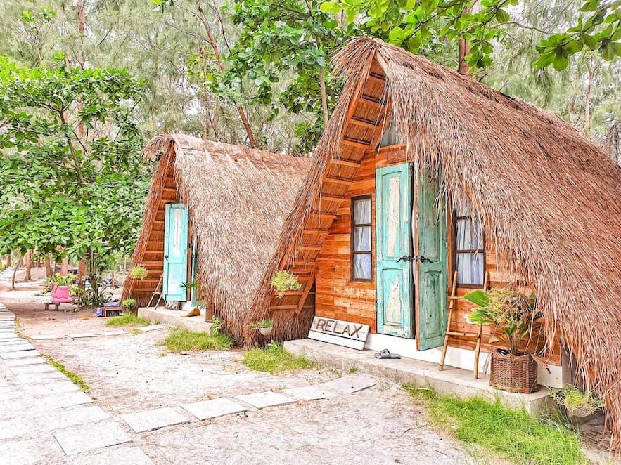 Wooden huts at Kwentong Dagat