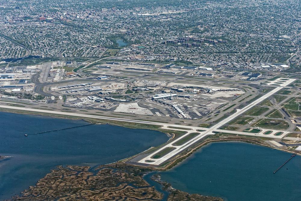 Aerial view of JFK Airport in New York