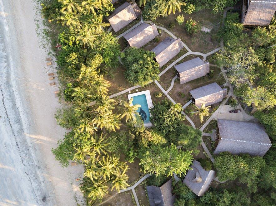 Aerial view of Qi Palawan