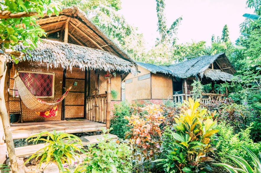 Wooden rooms in Bahay Kalipay