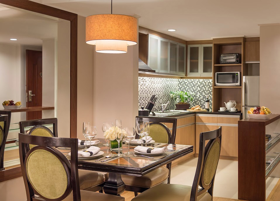 Master Dining and Kitchen at Discovery Suites Manila