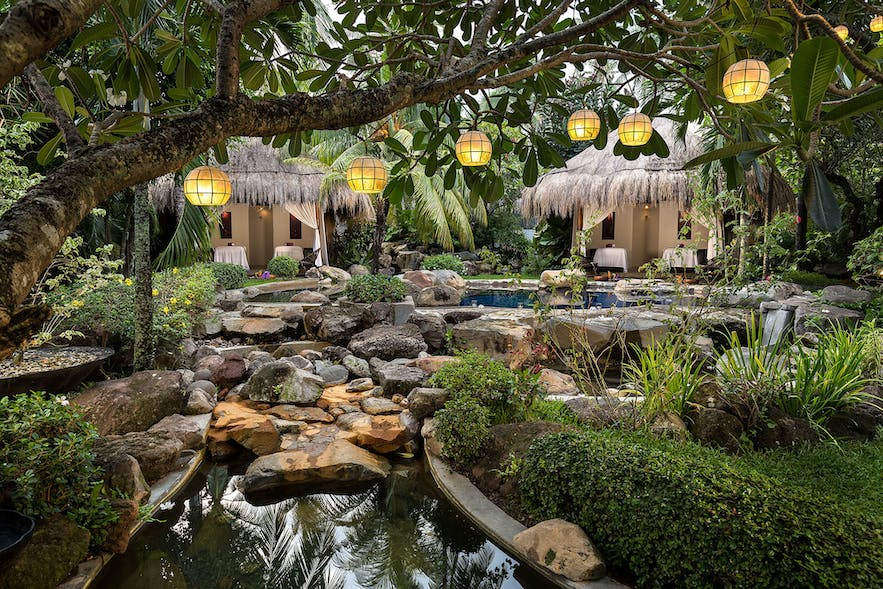 Spa pavillions in Atmosphere Resorts and Spa
