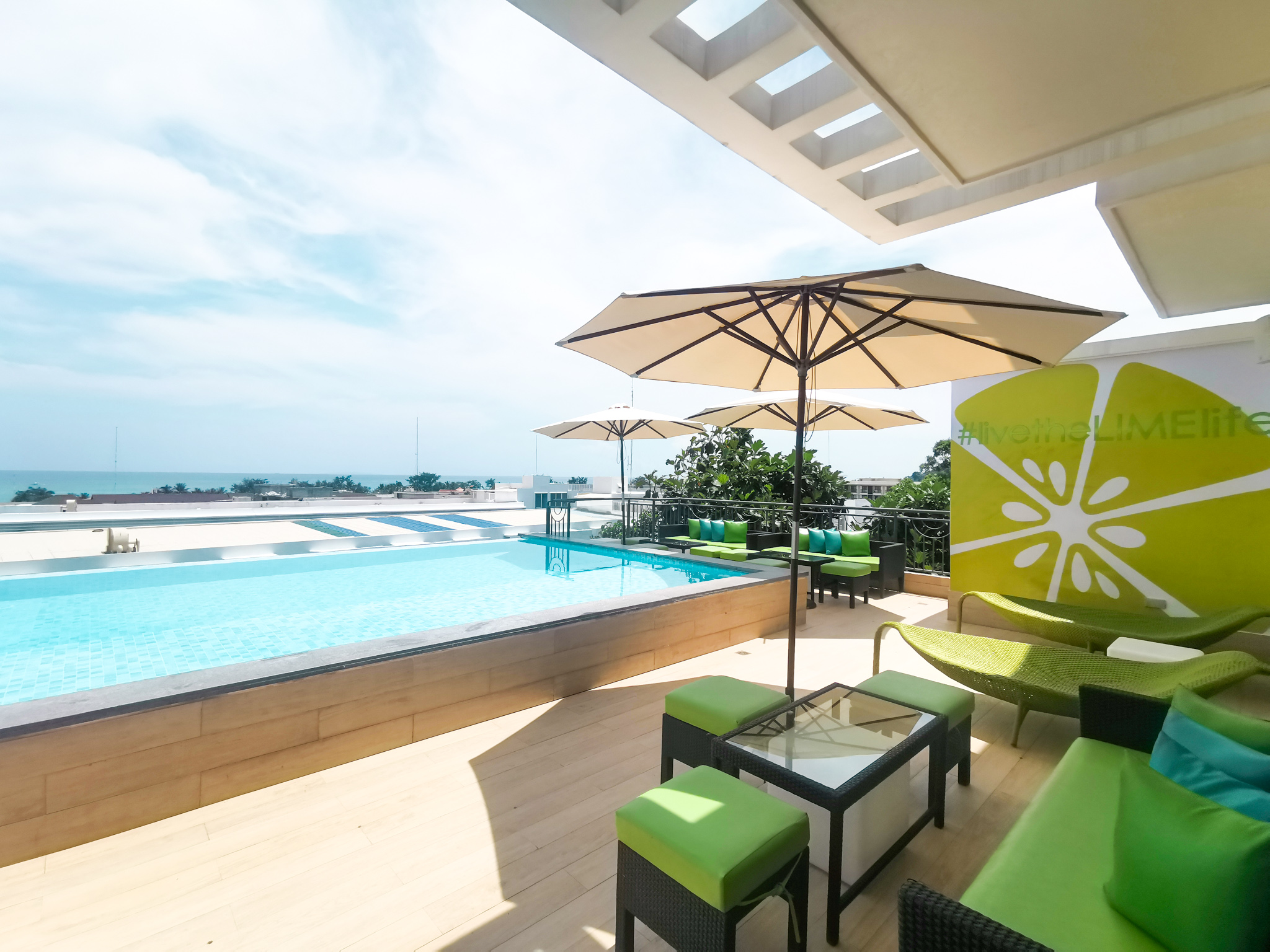 Rooftop pool at LIME Hotel Boracay