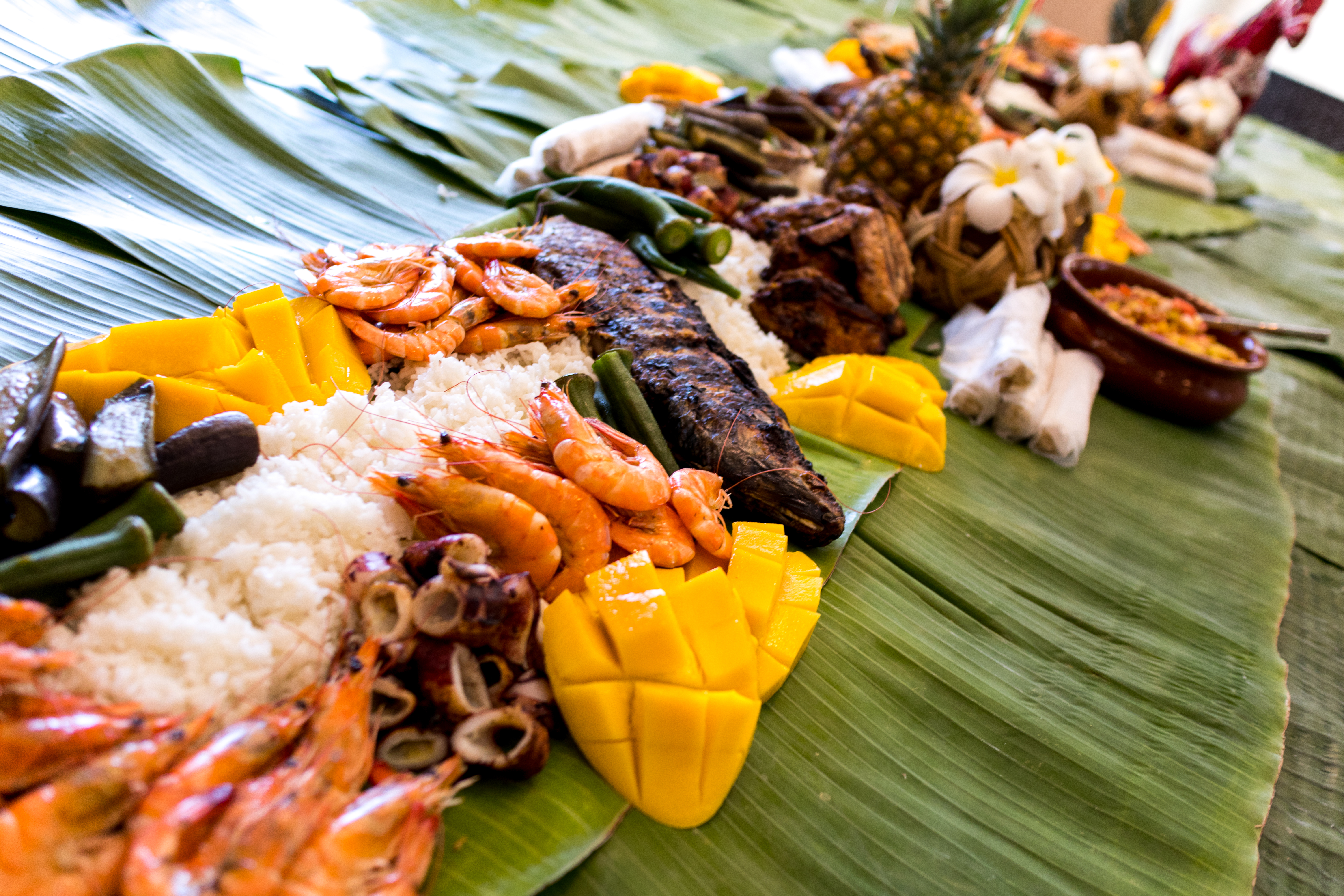 Seafood Lunch included in Boracay Island Hopping Tour