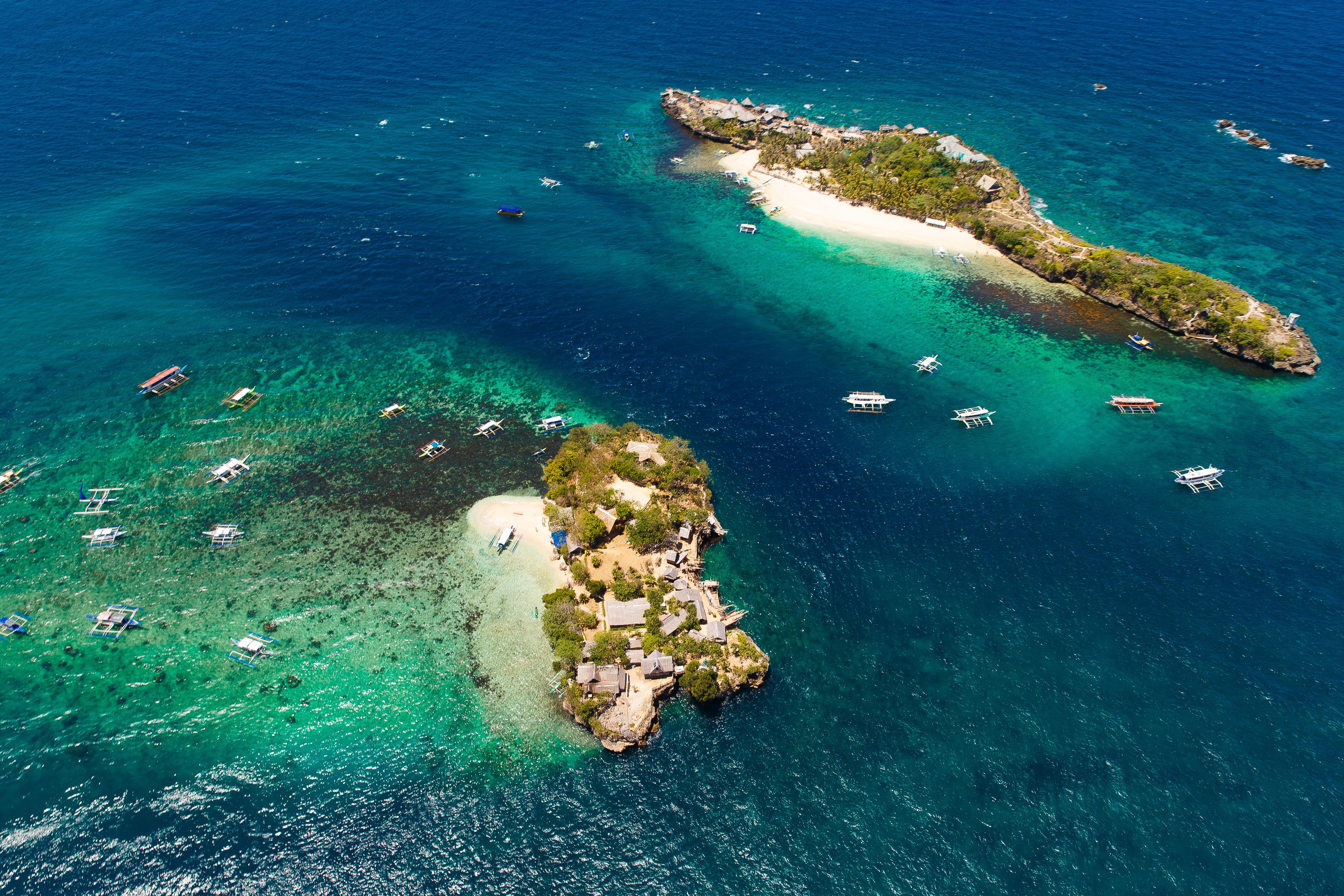 Optional tour of island hopping in Boracay Island