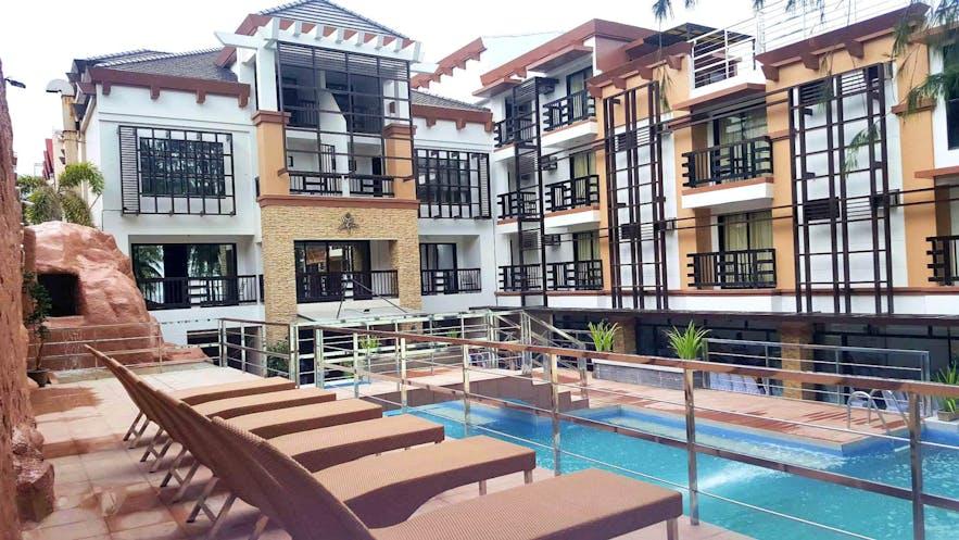 Pool area of La Carmela de Boracay Resort Hotel