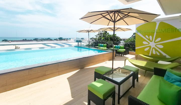 Poolside view at LIME Hotel Boracay located at the rooftop