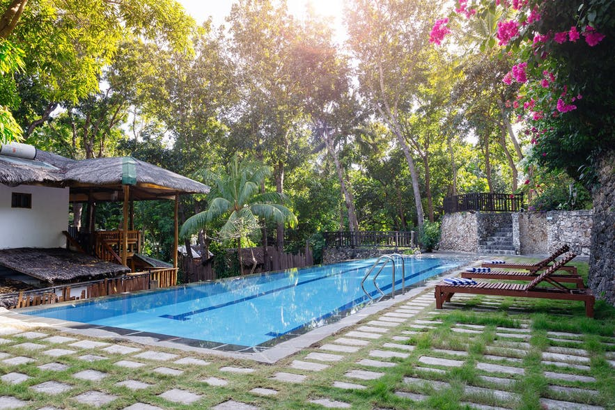 The Strand Boutique Resort's outdoor lap pool