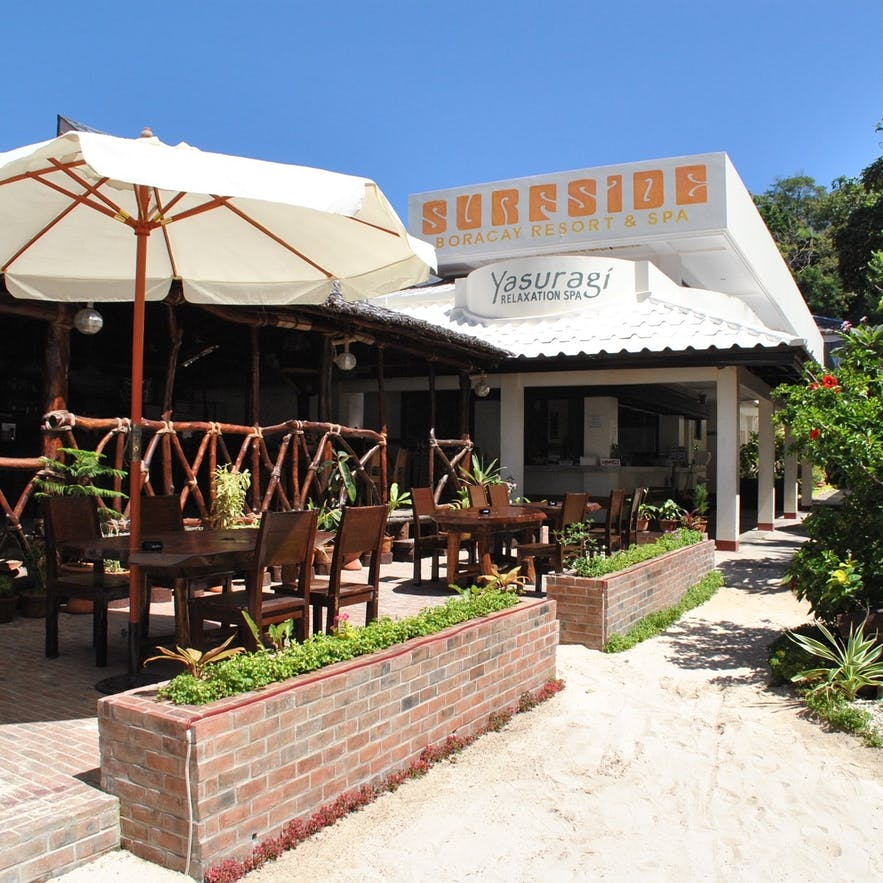 Surfside Boracay Resort & Spa's outdoor dining area