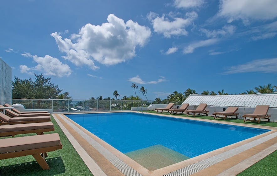 The Tides Hotel's rooftop pool
