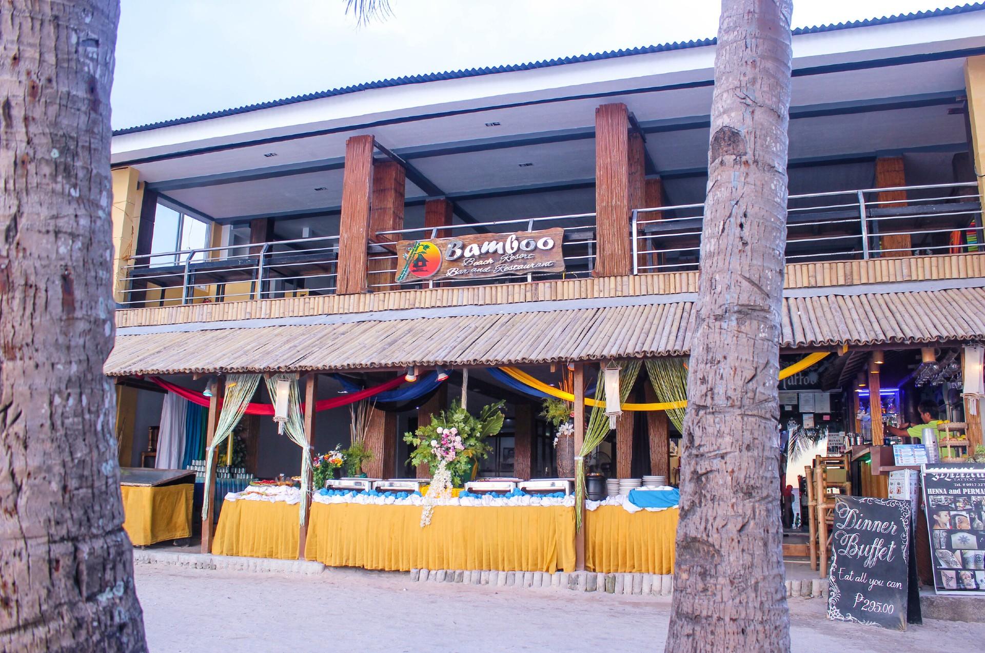 In-House restaurant at Bamboo Beach Resort