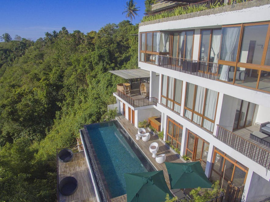 Pool view rooms of Narra Hill
