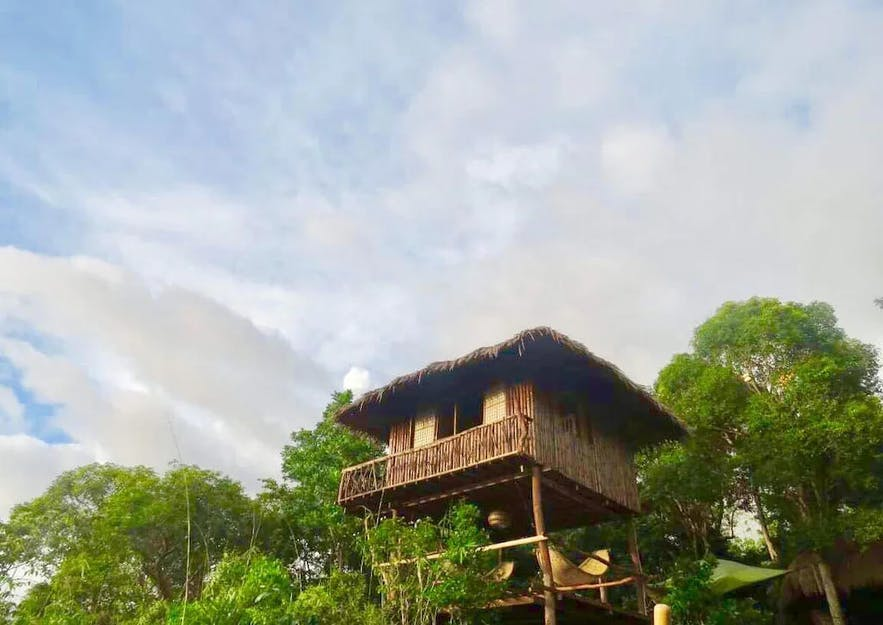 Oceanivew treehouse at Sanctuaria Treehouses