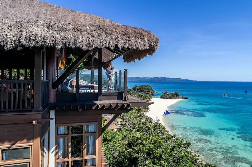 Couple in Shangri-La Boracay Resort & Spa Tree House Villas