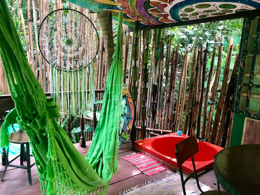 Outdoor lounge of Subic Green Tree House