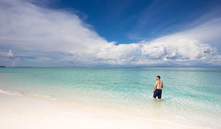 Enjoying the Pristine Beach of Daku Island