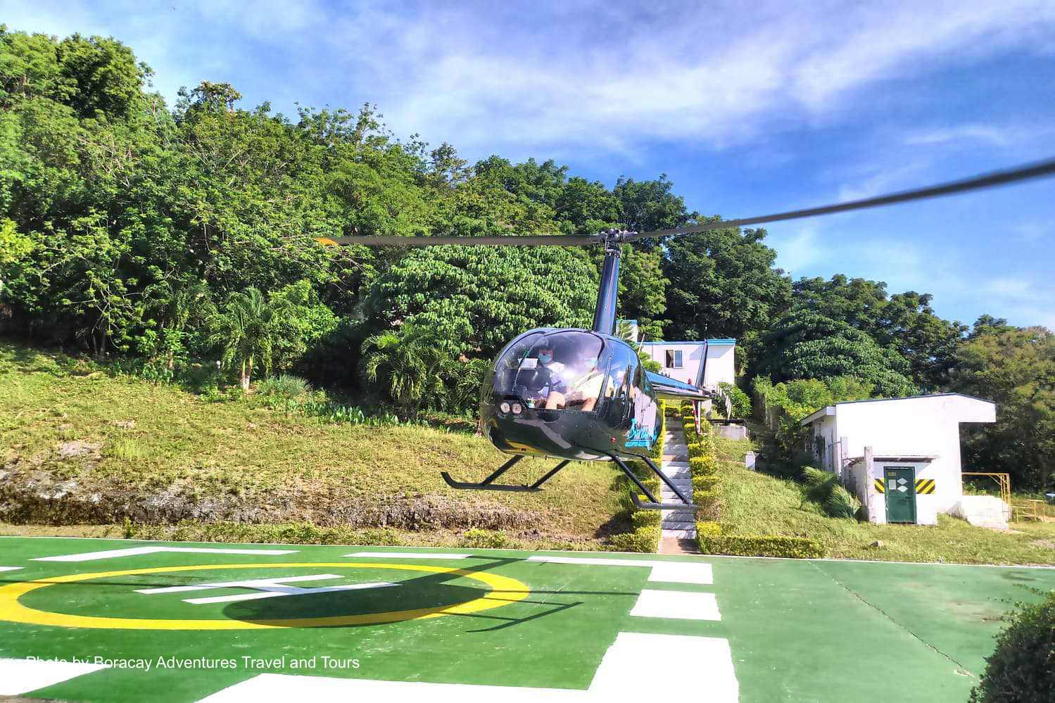 Helicopter tour of Boracay Island