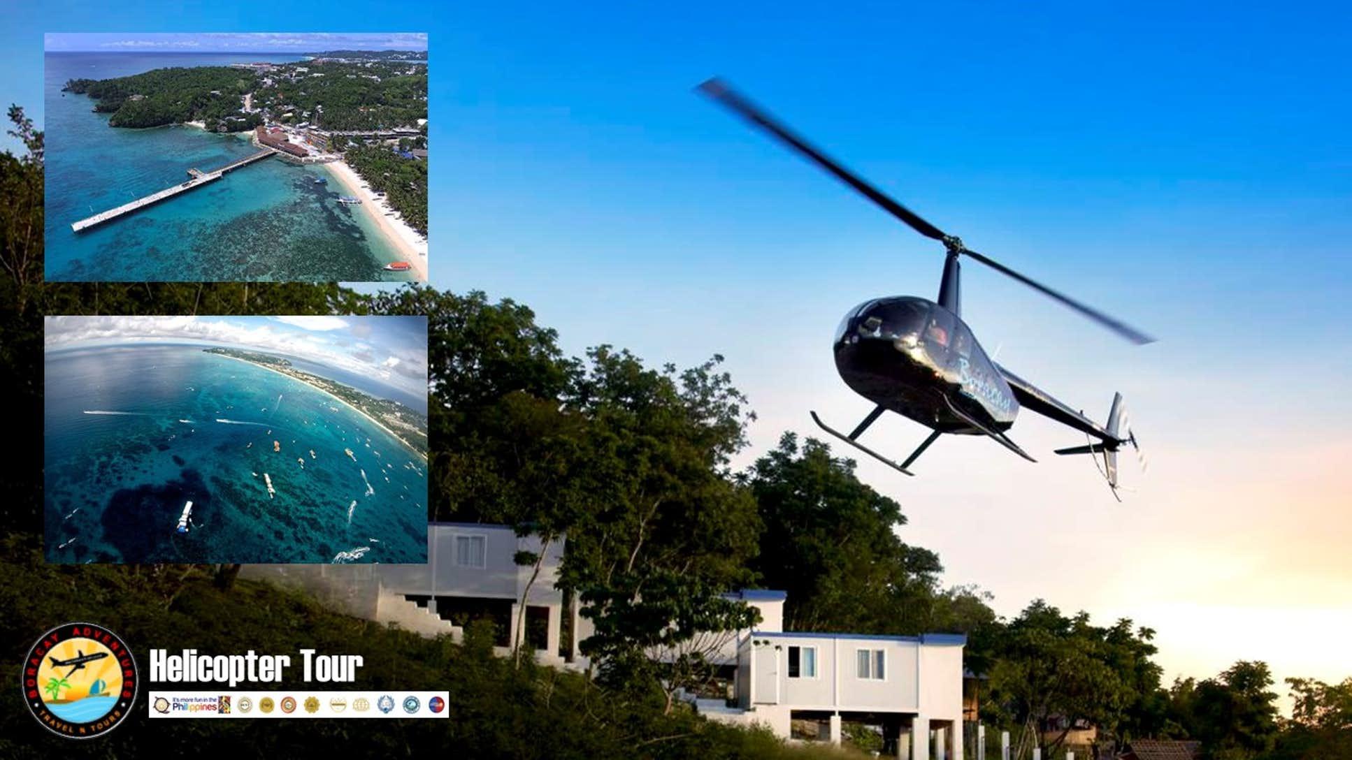 Helicopter tour around Boracay Island