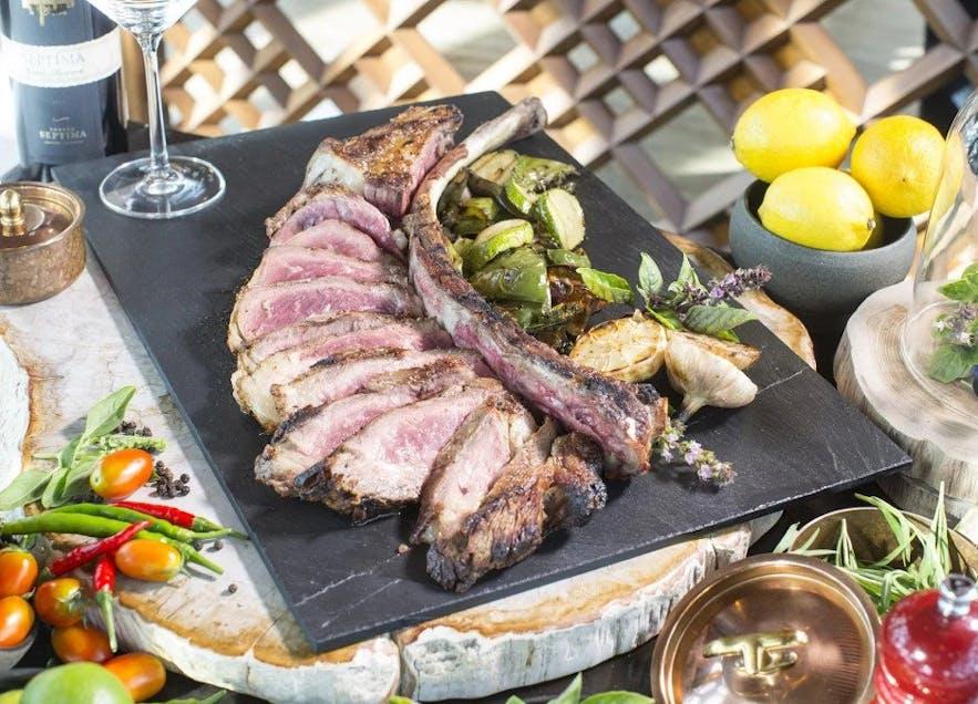 Mosaic Latin American Grill's tomahawk steak