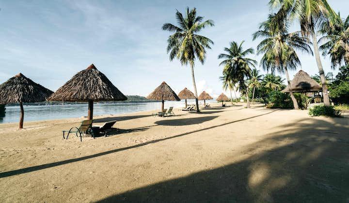 Beach view of Badian Island Wellness Resort