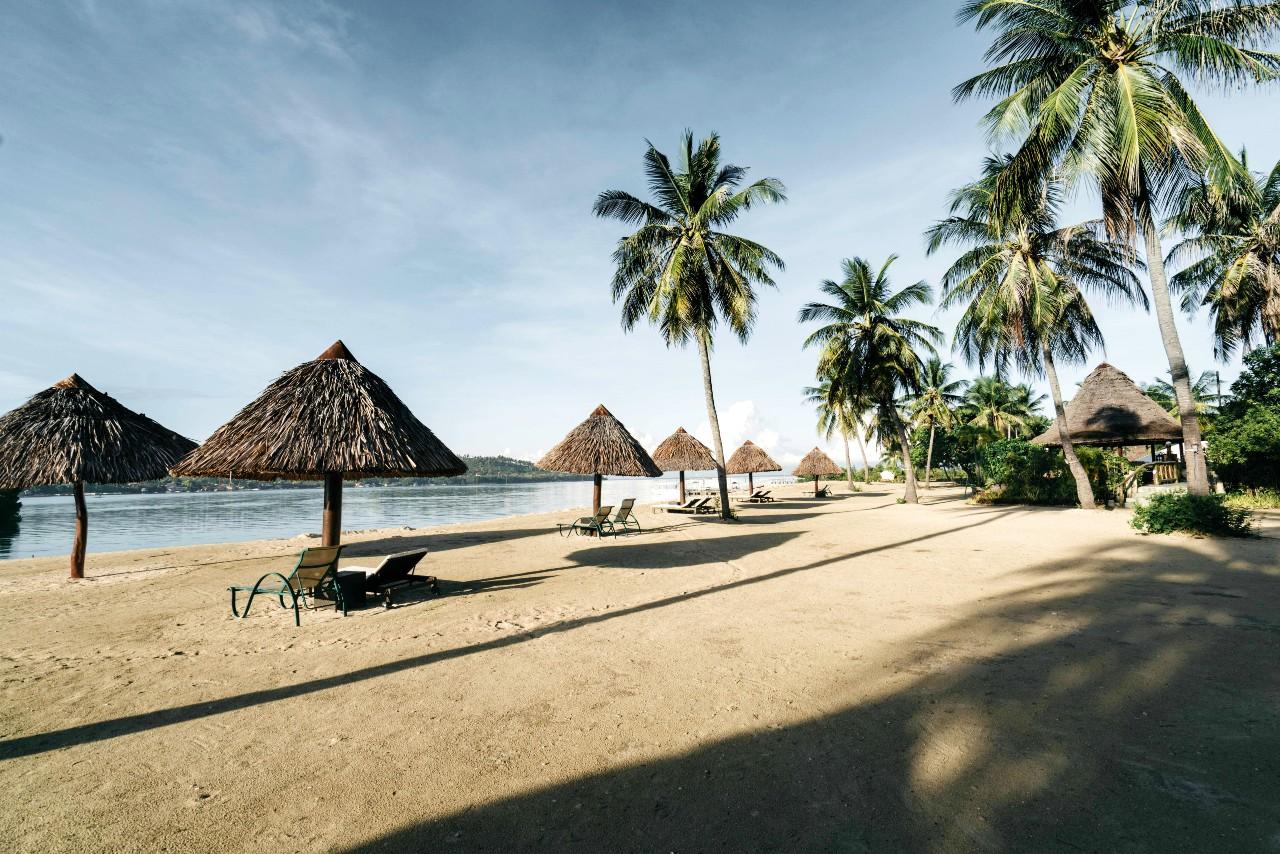 Beach view at Badian Island Wellness Resort