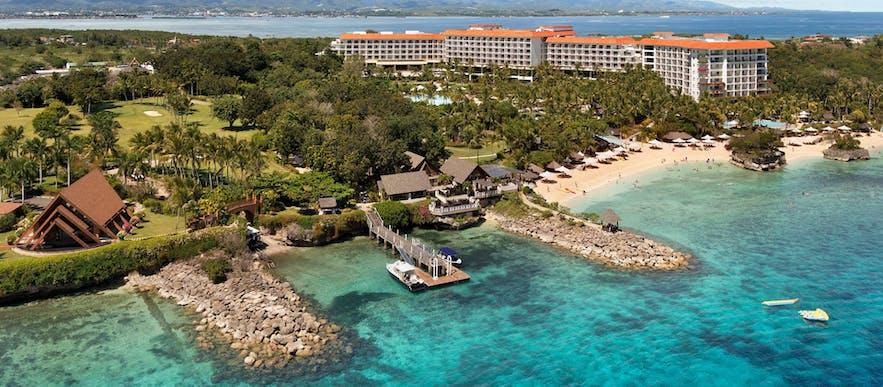 Aerial view of Shangri-La's Mactan Resort and Spa