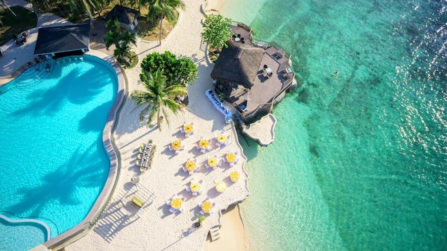 Aerial view of Mangodlong Paradise Beach Resort