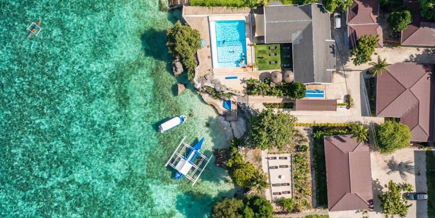 Aerial view of Cebu Seaview Dive Resort