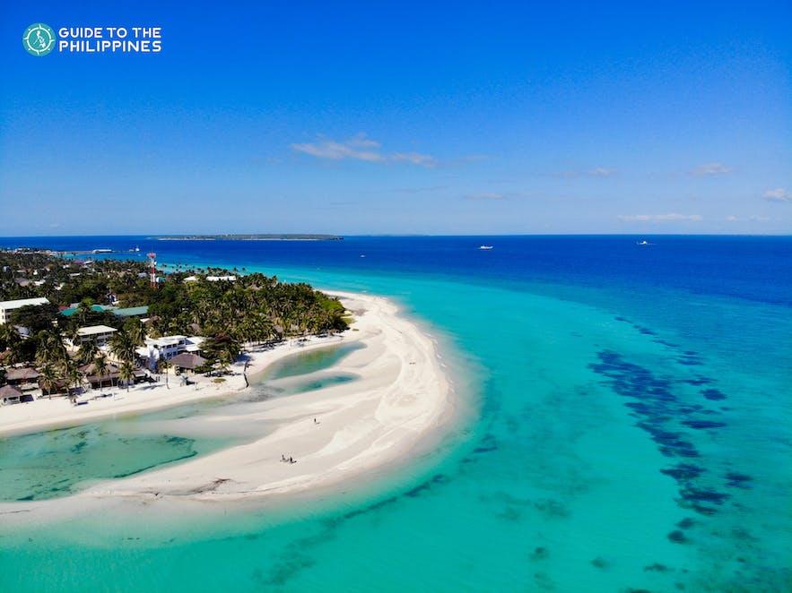 Aerial shot of Kota Beach