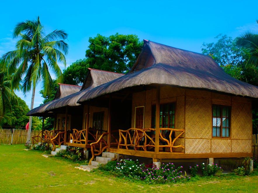 Traditional huts at Jurisu Resort