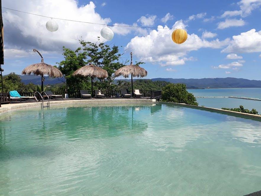 Peace and Love Resort's beachside pool