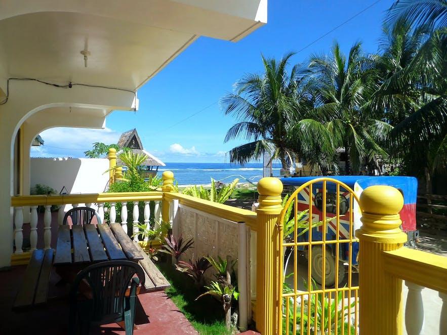A private veranda at Sailfishbay Surf & Big Game Fishing Lodge