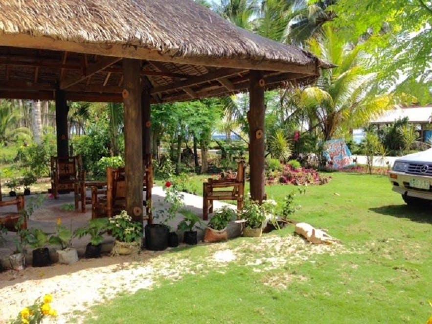 Garden lounge of White Sands Paradise Beach Resort
