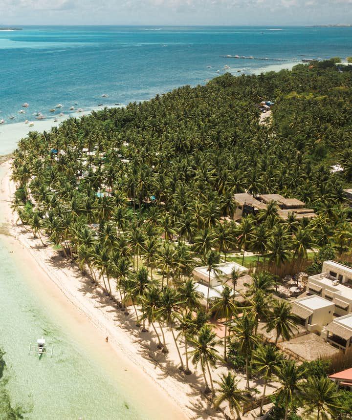 Aerial view of Siargao's shoreline