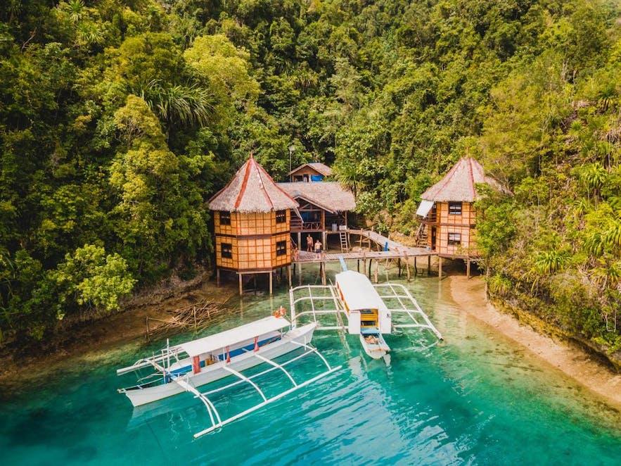 Drone shot of Enchanted Cove Resort