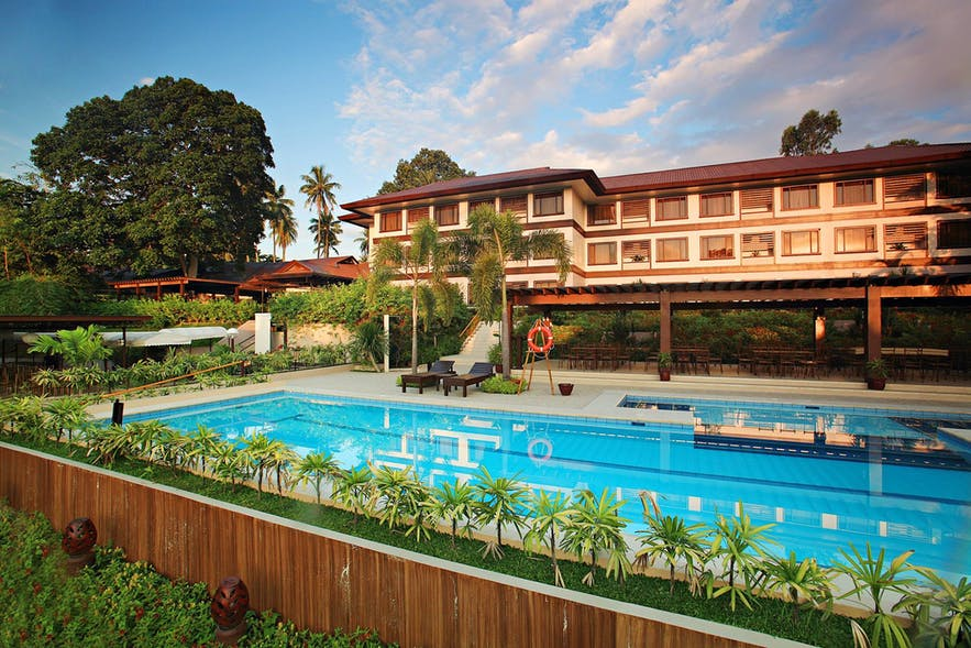 Hotel Tropika Davao's outdoor pool