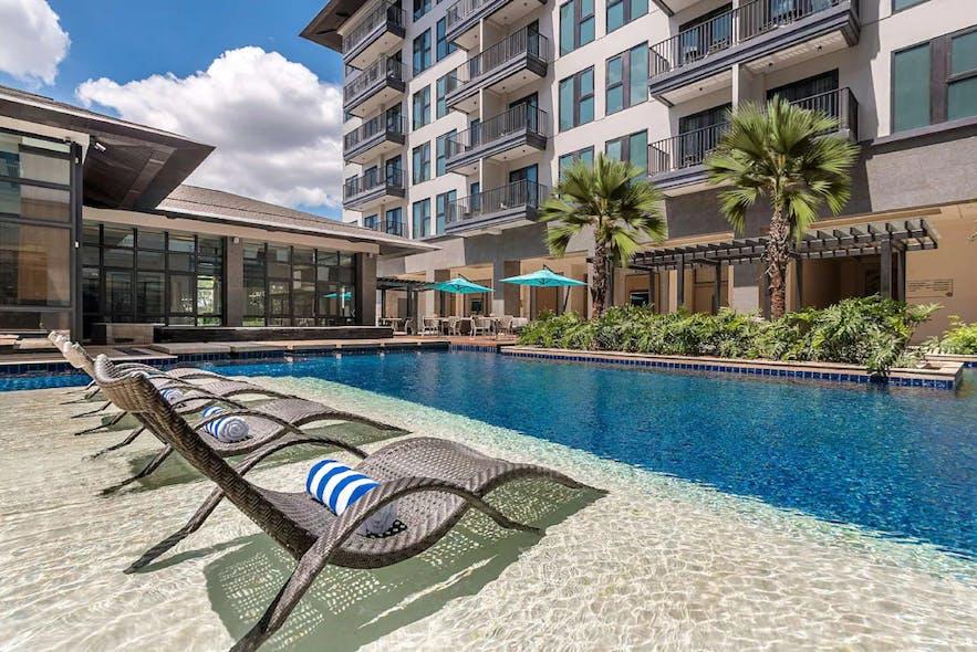 Dusit Thani Residence Davao's poolside
