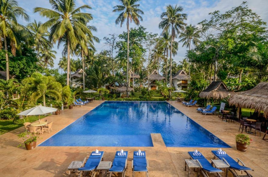 Daluyon Beach and Mountain Resort's outdoor pool