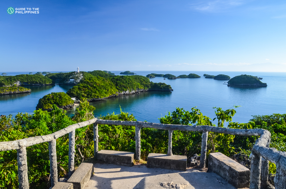 View from a deck in Hundred Islands in Pangasinan