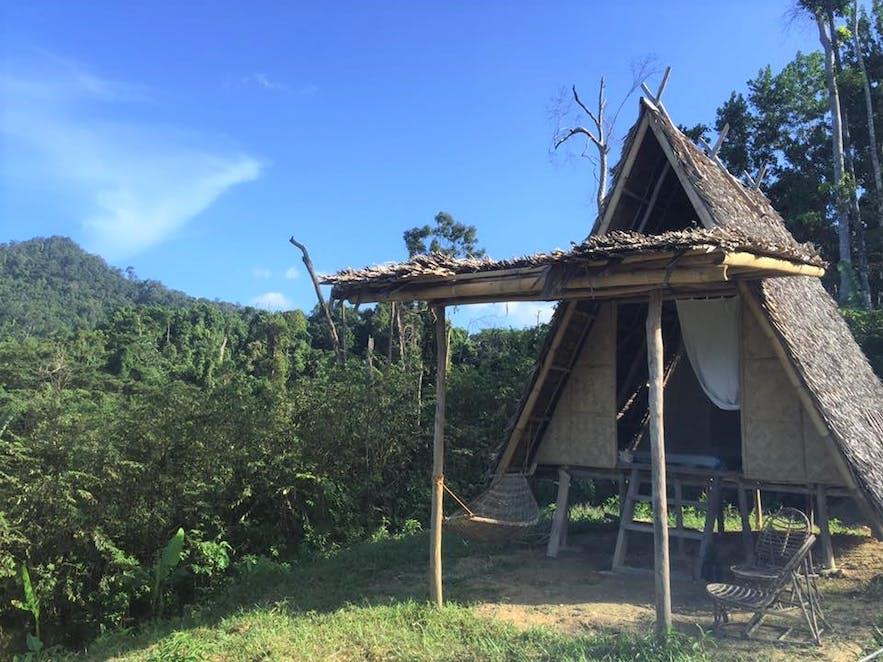 A cottage in Jungle Bar Resto & Hut