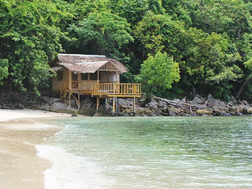 A water cottage in Blue Cove Island Resort