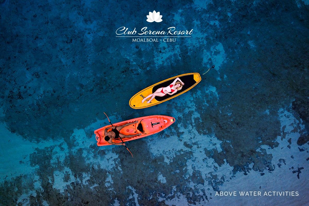 Above water activities at Club Serena Resort Moalboal