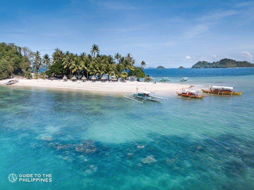 Drone shot of Inaladelan Island