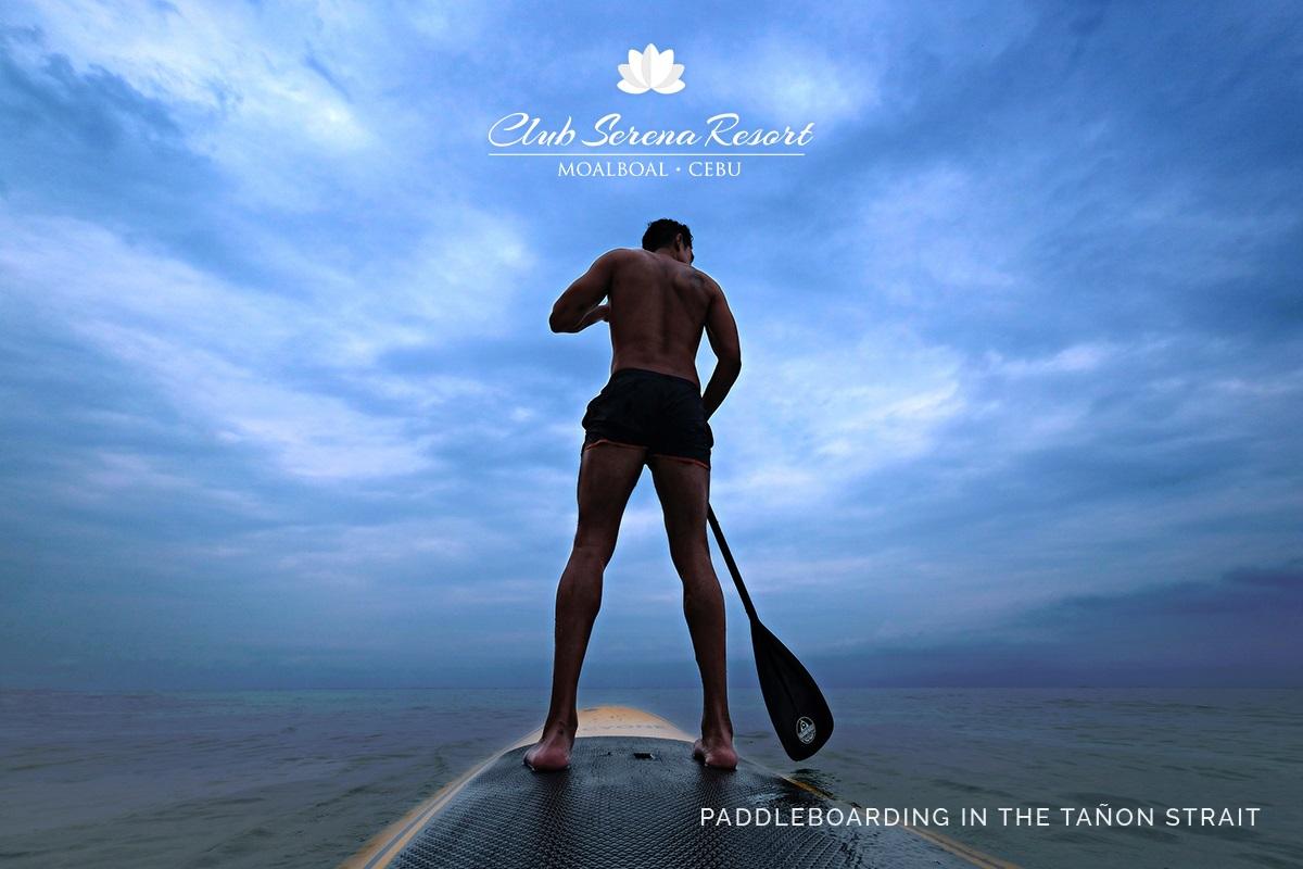 Paddle boarding at Club Serena Resort Moalboal