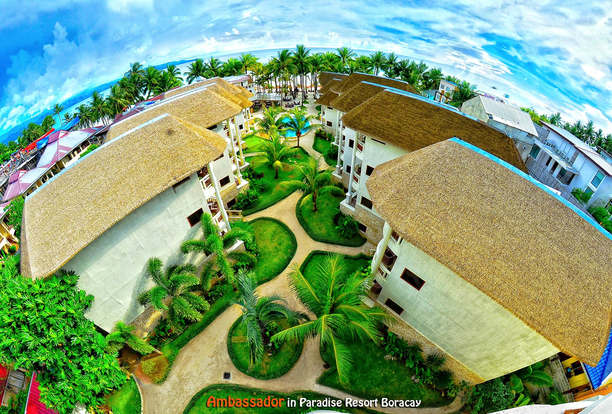 Aerial view of Ambassador in Paradise Boracay