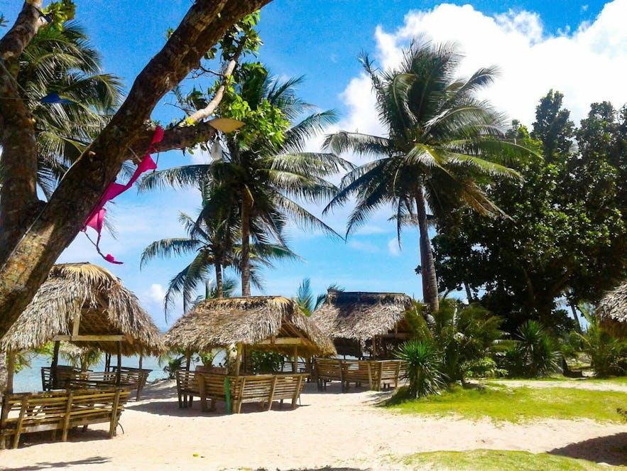 Pamana Beach Resort's beachside cottages