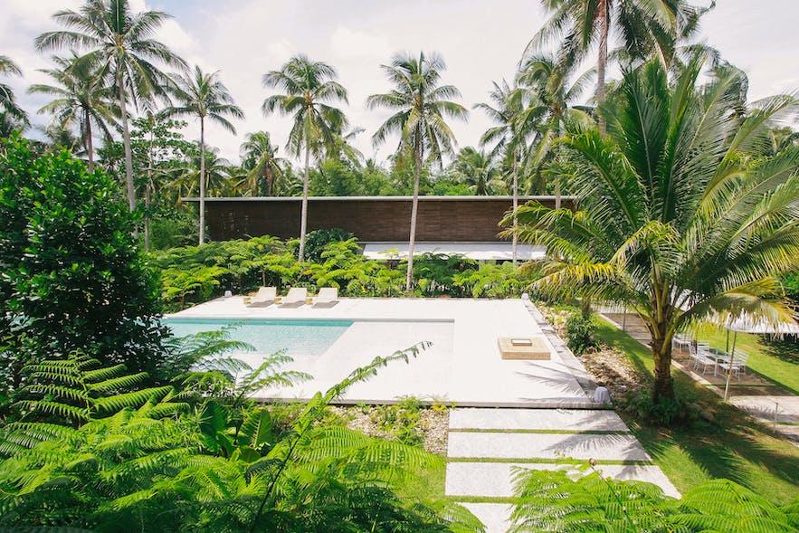 Siama Hotel's pool area