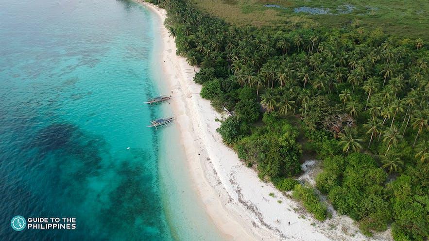Drone shot of Tikling Island