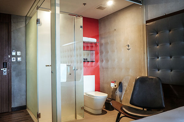 View of the Bathroom of B Hotel's Superior Room