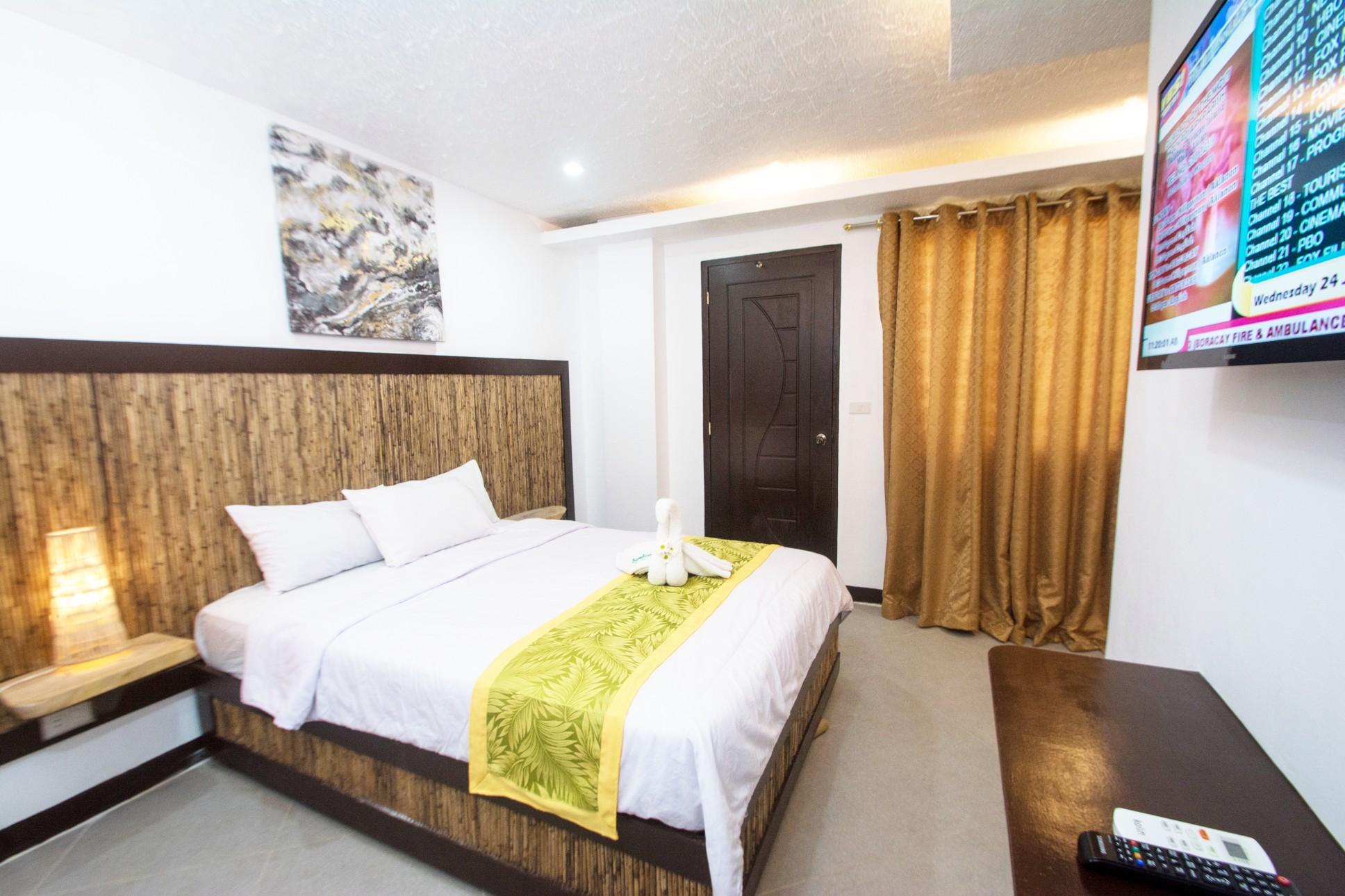 Inside the standard double room of Bamboo Beach Boracay